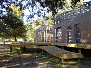 Construction of the interpretive visitor center at Reelfoot Lake.